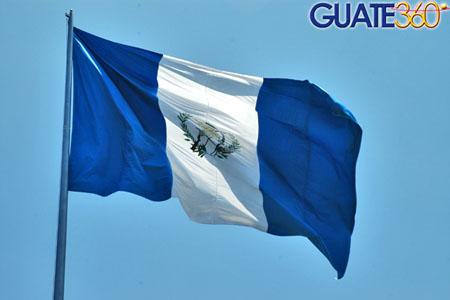 Bandera Nacional y Escudo Nacional (Simbolos Patrios de Guatemala)